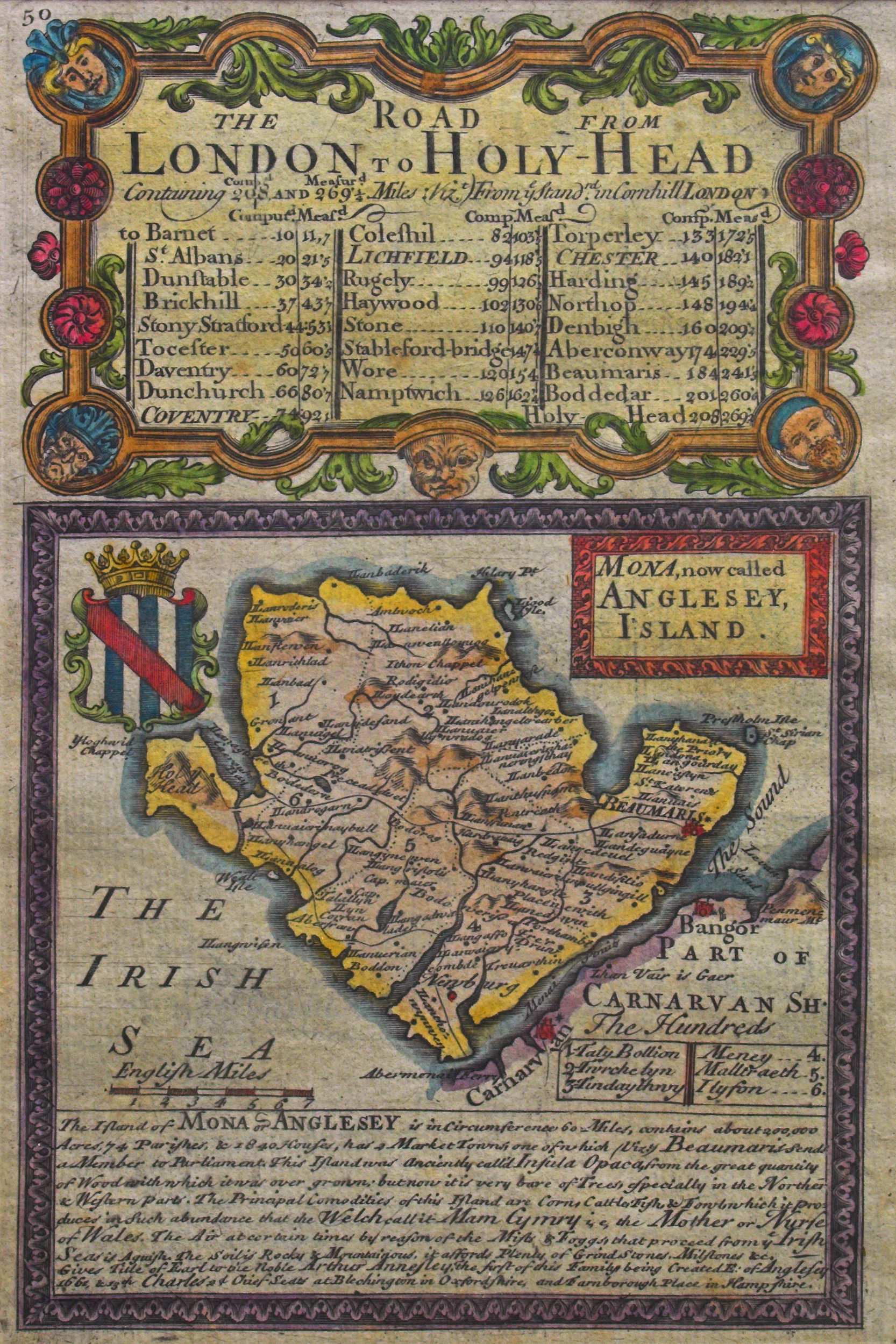Map Of England Holyhead.Anglesey Maps