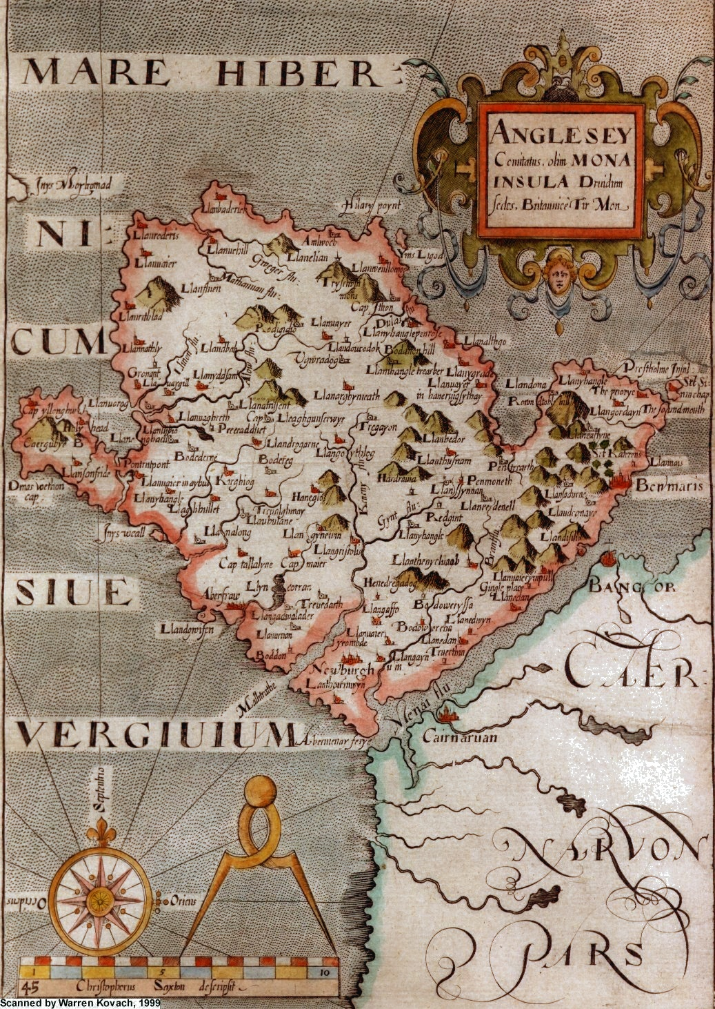 Anglesey Maps - Historic maps england