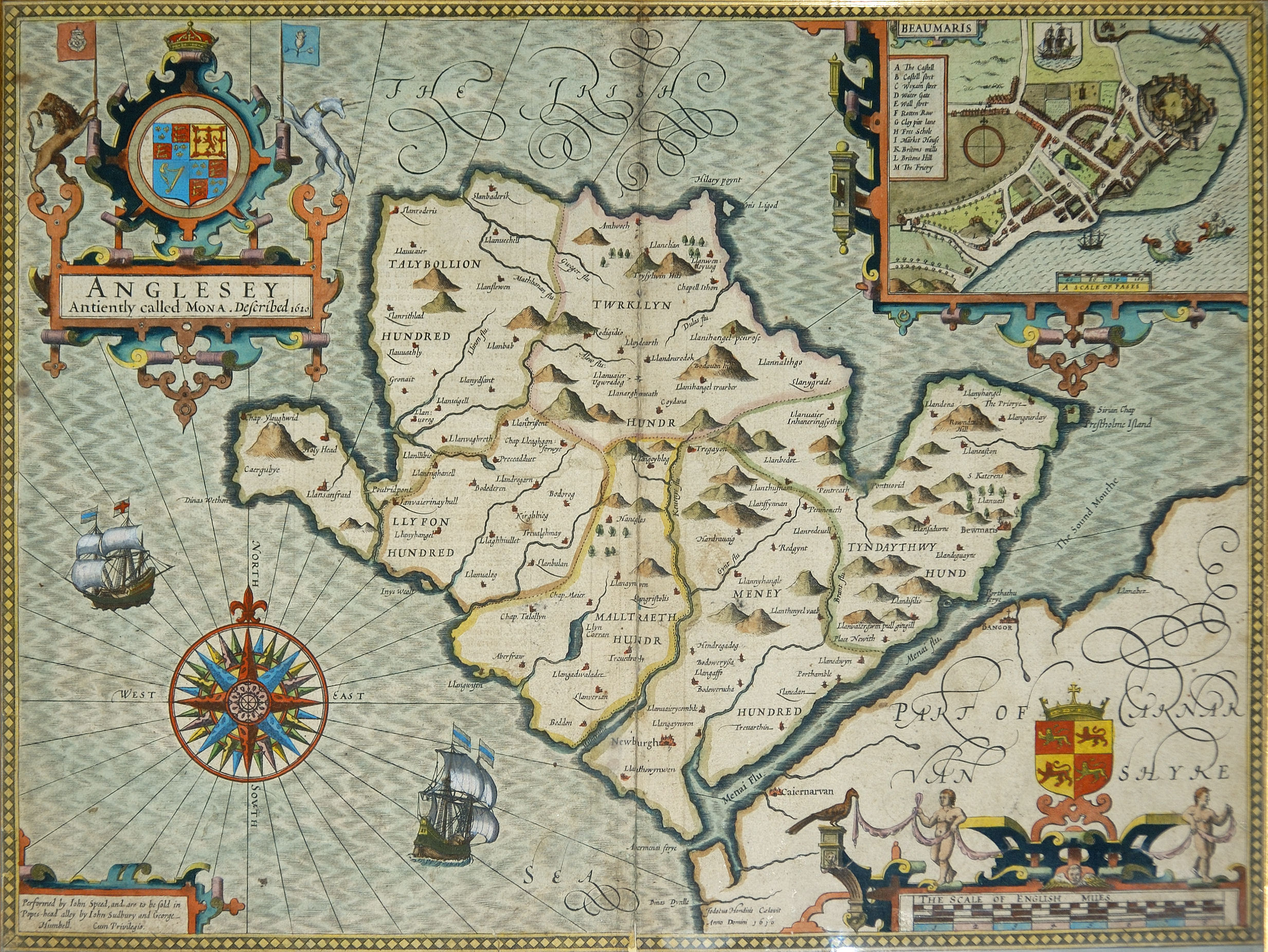 Oldest Map Of Ireland.Anglesey Maps